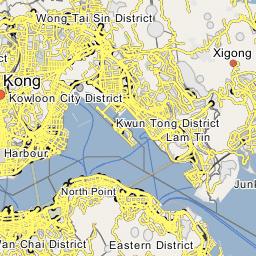 Karte China Hong Kong.Shatin Hong Kong