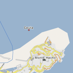 Ceuta Map, Map of Ceuta city on